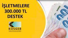 KOSGEB'DEN 300.000 TL Destek